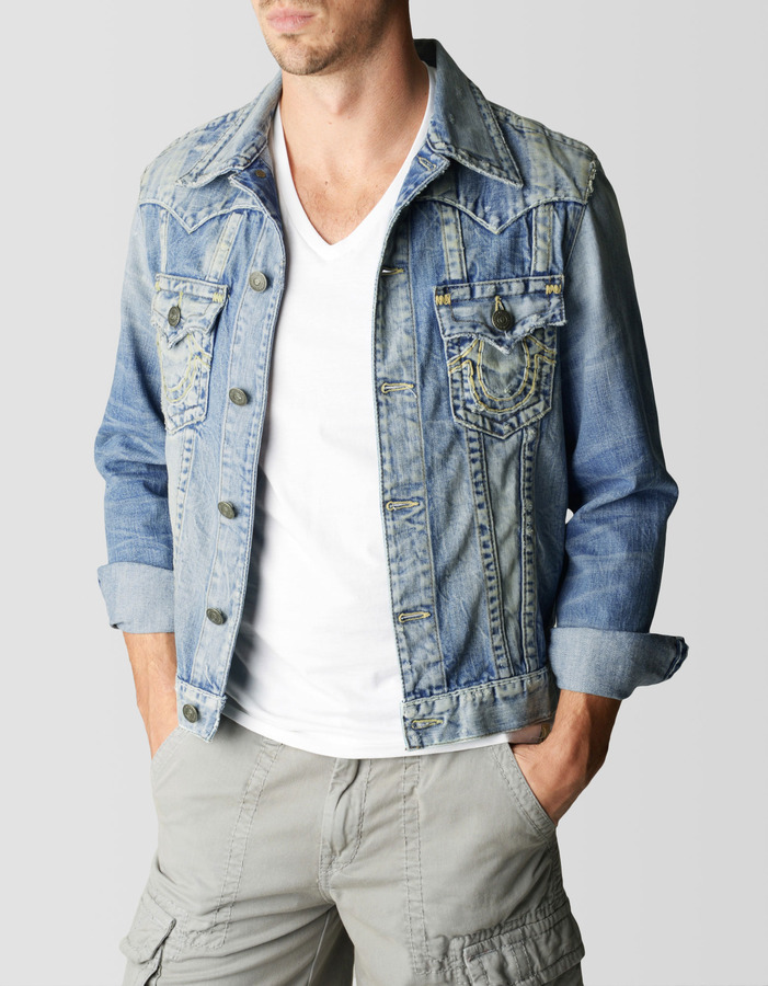 True Religion Jimmy Slim Fit Super T Denim Mens Jacket