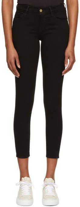 Black le Skinny De Jeanne Crop Jeans