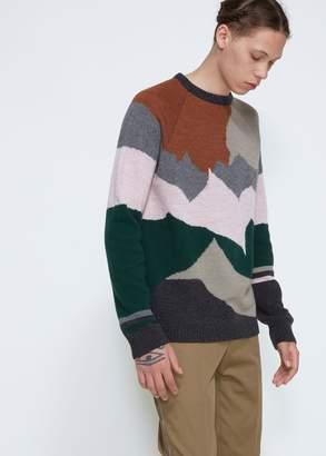 Lanvin Landscape Intarsia Crew Sweater