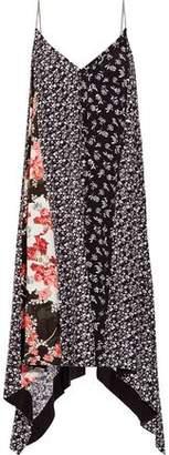 Rag & Bone Londar Asymmetric Floral-Print Crepe Midi Dress