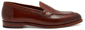 Grenson Lloyd Leather Penny Loafers - Mens - Tan
