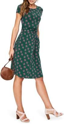 Boden Amelie Palm Print Jersey Fit & Flare Dress
