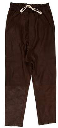 By Walid Leather Joggers