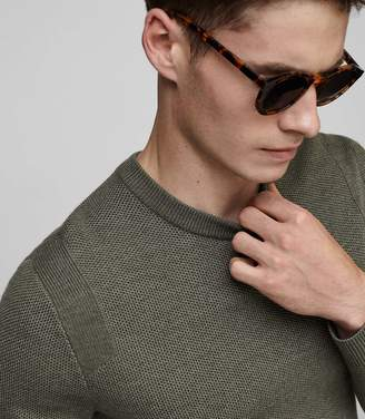 Reiss Zagger Textured Knit Jumper