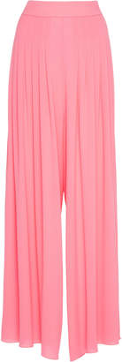 Emilia Wickstead Carla Pleated Jersey-Crepe Trousers