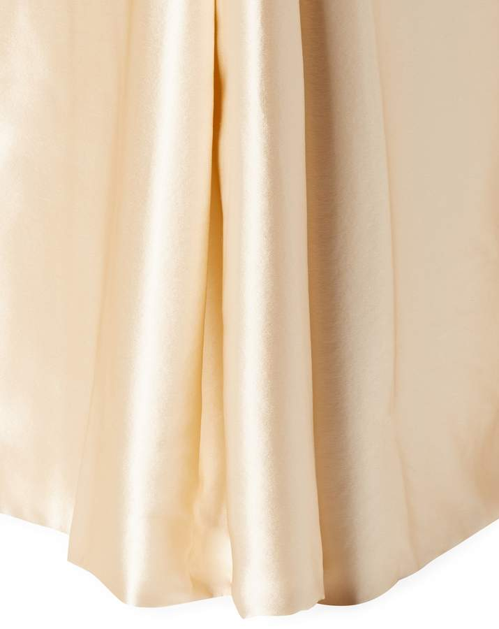 Charmeuse Tailored Silk Bed Skirt