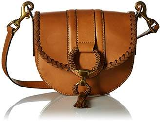Frye Ilana Leather Wrapped Small Saddle Bag Antique Veg Tan