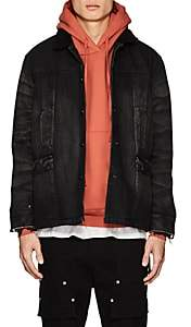 Stampd MEN'S SHERPA-LINED DENIM CAR COAT-BLACK SIZE L