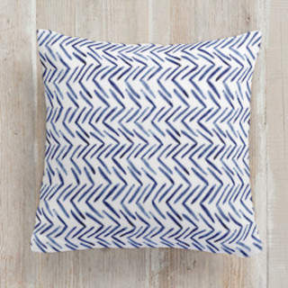 Painted Pattern - Woven Herringbone Self-Launch Square Pillows