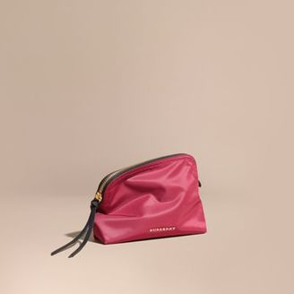 Burberry Large Zip-top Technical Nylon Pouch $195 thestylecure.com