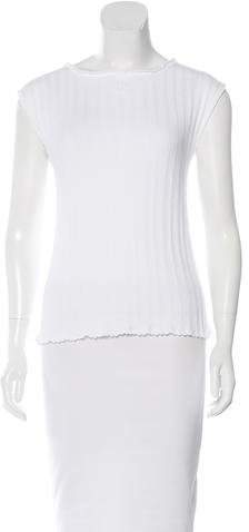 Chanel CC-Accented Knit Top