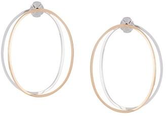 Delfina Delettrez 14kt gold twisted hoop earrings