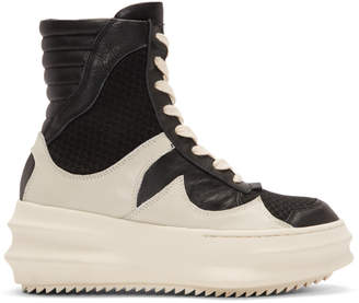 D.gnak By Kang.d White and Black Curved High-Top Sneakers