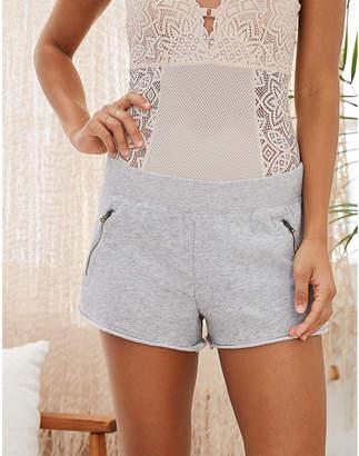 aerie Fleece Zip Pocket Short