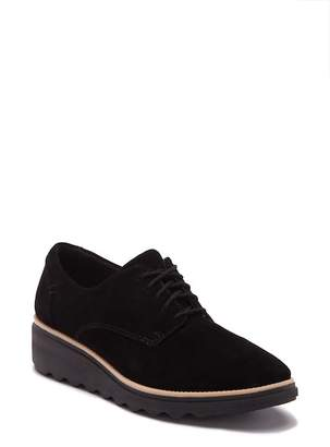 Clarks Sharon Noel Suede Wedge Derby - Wide Width Available