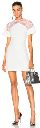 David Koma Short Flock Sleeve Mini Dress