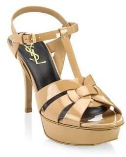 Saint Laurent Tribute Pantent Leather Sandals