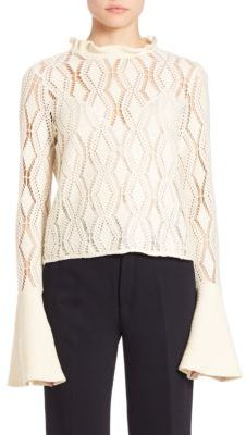 See by Chloe Laser-Cut Cotton Blend Top $260 thestylecure.com