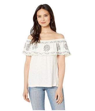 Rock and Roll Cowgirl Off Shoulder Blouse 47-1617
