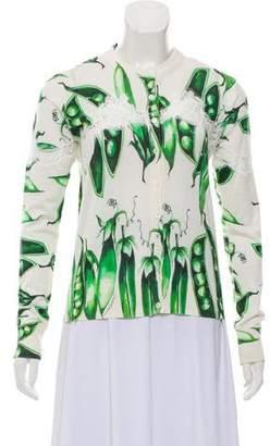 Dolce & Gabbana 2018 Pea Print Cardigan