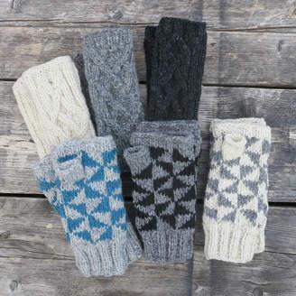 Aura Que Raja Knit Wristwarmer Gloves