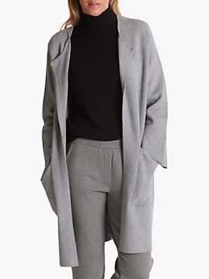 Betty Barclay Long Fine Knit Cardigan, Grey