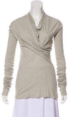 Rick Owens Ruched Accent Long Sleeve Top