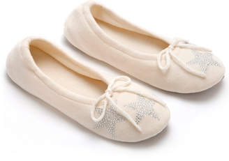 A & R Cashmere AR Cashmere Cashmere-Blend Slipper With Star Crystals