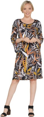 Bob Mackie Bob Mackie's Tropical Paradise Print Knit Dress