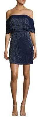 Parker Kiera Off-the-Shoulder Silk Dress
