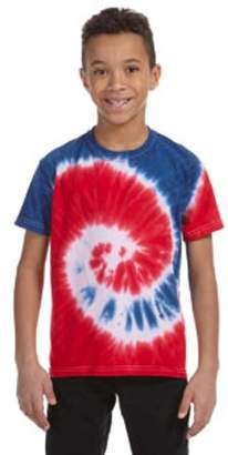 Tie-Dye Youth 5.4 oz., 100% Cotton Tie-Dyed T-Shirt Spider CD101Y