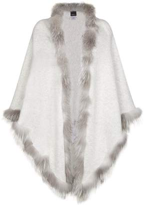William Sharp Fox Fur Trim Cashmere Scarf