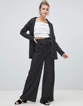 Influence polka dot wide leg pants