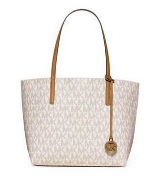 Michael Kors Signature Hayley Logo Large EW Tote Bag in