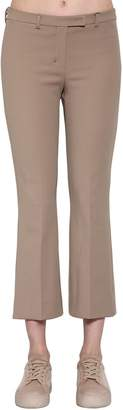 Max Mara 's Cropped Stretch Cotton Pants