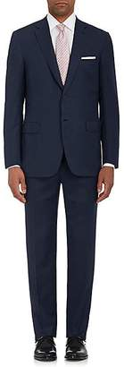 Brioni Men's Brunico Neat Wool-Blend Two-Button Suit - Navy