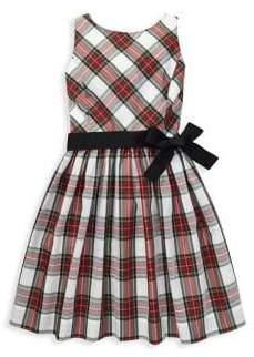 Ralph Lauren Little Girl's& Girl's Plaid Sash Dress
