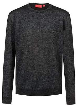 HUGO BOSS Wool-blend knitted sweater with subtle shine