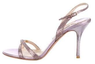 Jimmy Choo Glitter Strap Sandals