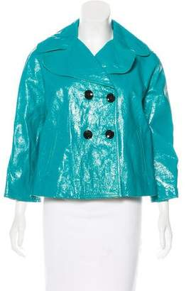 Dolce & Gabbana Patent Leather Peacoat w/ Tags