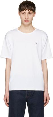 Acne Studios White Niagara Face T-Shirt $130 thestylecure.com