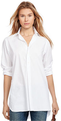 Polo Ralph Lauren Cotton Broadcloth Tunic $125 thestylecure.com