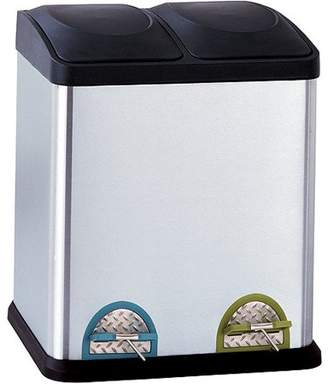 Organize It All organize-it-all Neu Home 8-Gallon Step-On Recycling Bin, Stainless
