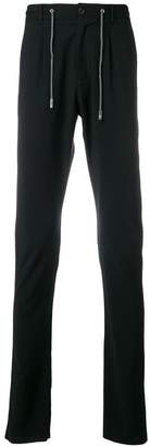 Eleventy drawstring waist straight trousers