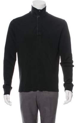 Ralph Lauren Black Label Snap-Up Mock Neck Sweater
