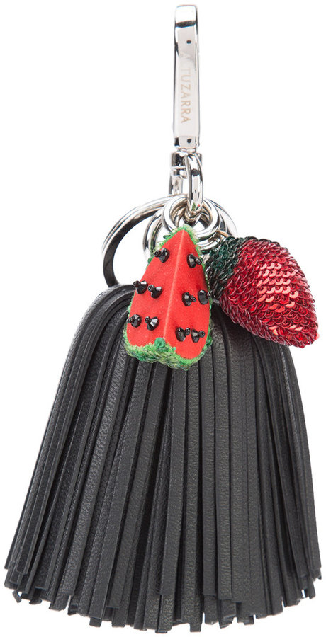Altuzarra Altuzarra watermelon strawberry tassel keyring