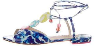 Sophia Webster Printed Lace-Up Sandals