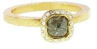 Todd Reed Small Square Fancy Yellow Diamond Solitaire - Yellow Gold