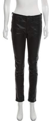 Rag & Bone Zipper Capri Coated Mid-Rise Jeans