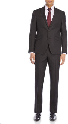 Kenneth Cole Reaction Two-Piece Black Pindot Ready Flex Suit